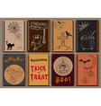 Halloween cards baners design set with Hand Drawn vector image