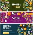 sport logo design template fitness or gym vector image