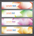 abstract background business banner set vector image