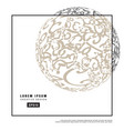 3d decorative line art globe for layout design in vector image vector image
