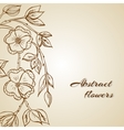 Abstract background with flowers in vintage style vector image vector image