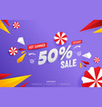 abstract hot summer sale 50 discount background vector image vector image