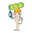 automotive fresh organic parsnip vegetable cartoon vector image vector image