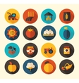 Autumn Harvest Thanksgiving flat icon vector image vector image