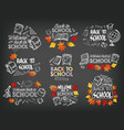 back to school stationery chalk icons vector image vector image
