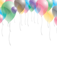 Balloons background Balloons on sky background vector image vector image