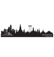 Bangkok Thailand skyline Detailed silhouette vector image vector image