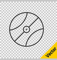 Black line basketball ball icon isolated on