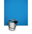 blue paint pot background vector image vector image