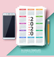 calendar 2020 year business template vector image