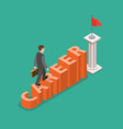 career development flat isometric concept vector image