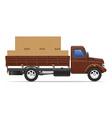 cargo truck concept 01 vector image vector image