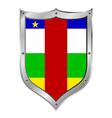 Central African Republic flag button vector image vector image