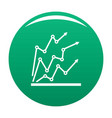 chart icon green vector image vector image