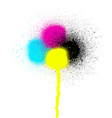 CMYK graffiti leaking drip sprayed element vector image vector image