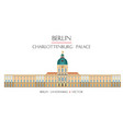 colorful charlottenburg palace vector image