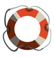 colorful flotation hoop with tether and half vector image vector image