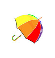 colorful rainbow umbrella of modern vector image