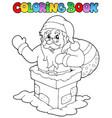 coloring book santa claus theme 7 vector image vector image