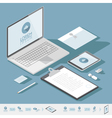 Corporate identity mock-up template vector image