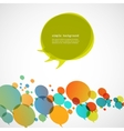 Creative background of colorful speech bubbles eps