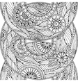 Doodle seamless background in with doodles vector image vector image