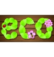 Eco background with flowers vector image vector image
