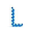 Festive alphabet vector image vector image