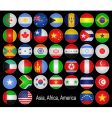 flags buttons vector image vector image