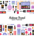 flat style makeup and skincare background vector image vector image