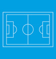 football pitch icon simple style vector image vector image
