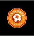 football soccer circular logo modern professional vector image vector image