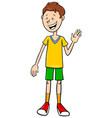 funny teen boy character cartoon vector image vector image