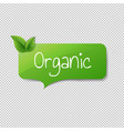green organic label isolated transparent vector image