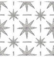 hand drawn crystals pattern abstract stars vector image vector image