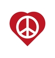 Heart shape icon Love and Peace design vector image