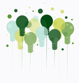 Idea concept of hanging green light bulbs vector image vector image