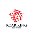 king lion logo designs vector image