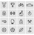 line sport icon set vector image