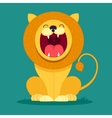 lion sits and snarls vector image vector image