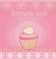 Lovely Cupcake Design card vector image vector image