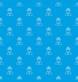 miner pattern seamless blue vector image vector image