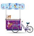 mobile ice cream cart flat vector image