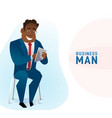 modern business black man in the office sitting on vector image