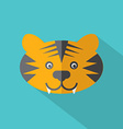Modern Flat Design Tiger Icon vector image