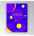modern vertical overprint cmyk page template vector image vector image