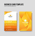 modern yellow business card vertical template vector image vector image