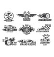 monochrome labels and badges of sport labels vector image vector image