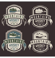 mountains whiskey vintage labels set vector image vector image