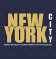 new york nyc vector image vector image
